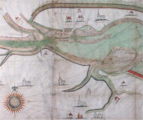 A map of Faversham and Oare Creek