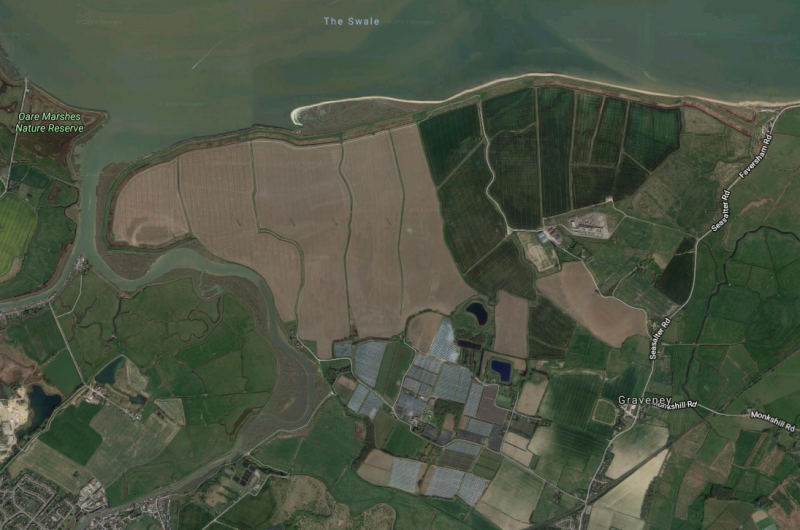 This bird's eye image of Nagden and Graveney Marshes has become familiar as the Save Graveney campaign battles against the Cleve Hill development