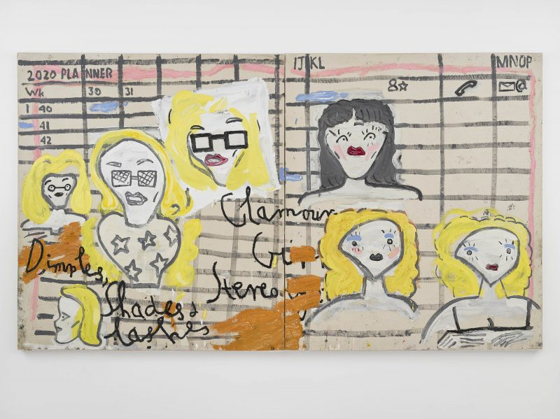 Glamour Girl Stereotype, Shades and Lashes 2019 ©Rose Wylie. Courtesy of the artist and David Zwirner