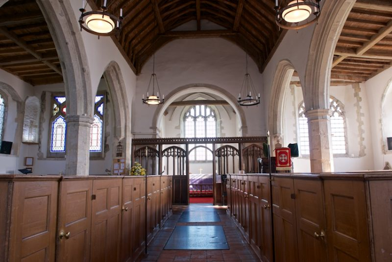 Box pews installed in 1823 and the early 16th century rood screen are amongst the many delights of All Saints, Graveney