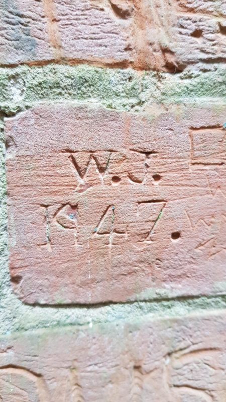 An example of the carefully executed graffiti inside the Dawes tower