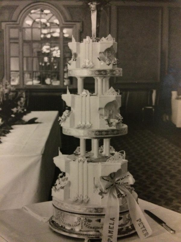 Jane's parents' wedding cake made by the family bakers: 'A towering edifice of royal icing!' says Jane