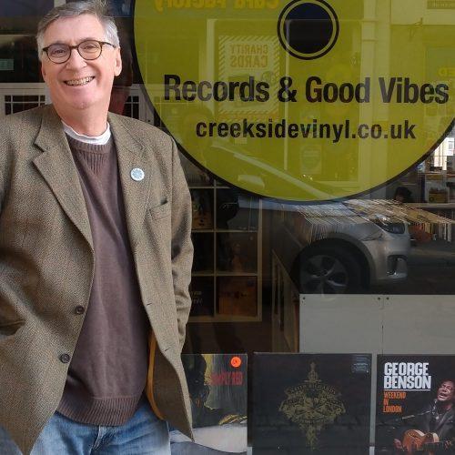 Simon Tyler outside Creekside Vinyl