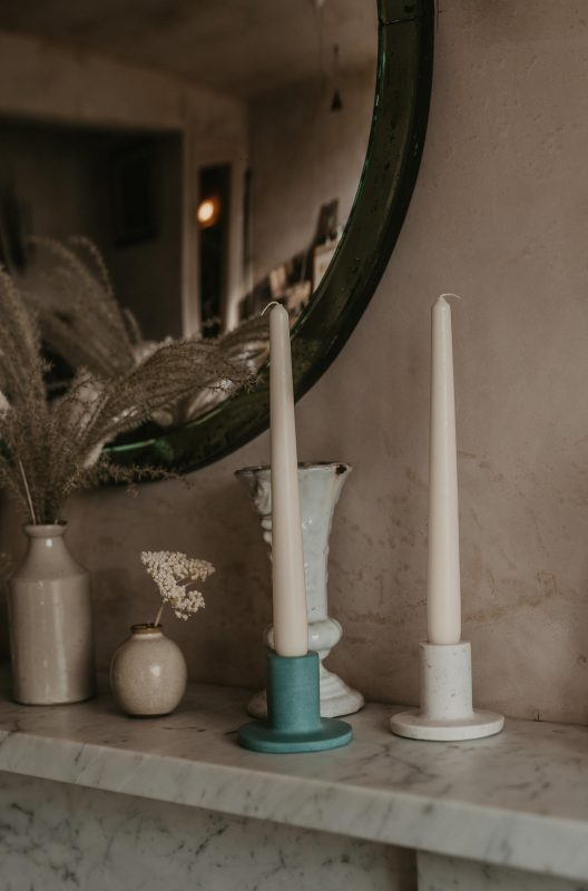 Concrete candlestick £10 from Forest & Twine