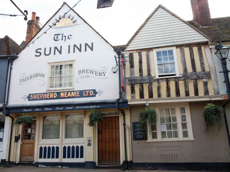 Sun Inn, a 15th century hall house, altered in the late 16th and 17th centuries.