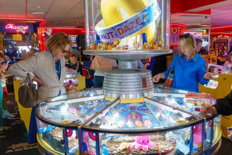 Losing Faversham Life's shirt at the penny slots