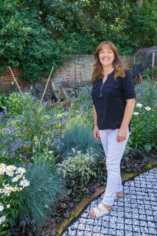 Suzanne Campbell, the friendly Manager of the Abbey Physic Garden
