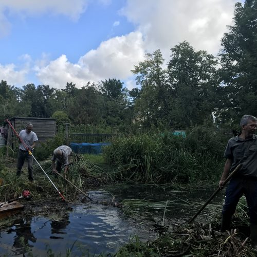 Clearing the leat at Flood Lane
