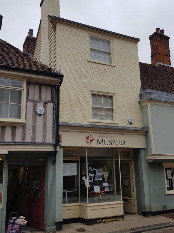 Mathematical tiles grace the facade of the Fleur de Lis museum in Preston Street